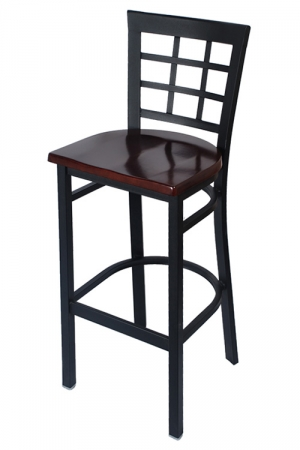 Window Back Metal Bar Stool Restaurant Furniture Canada