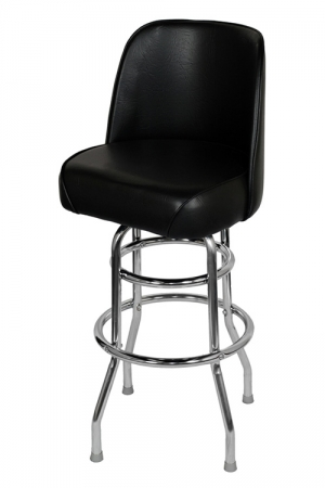 Chrome Swivel Bar Stool with a Single/Double Ring
