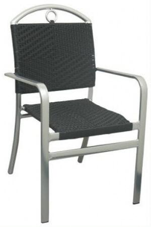 Caesar Aluminum And Rattan Patio Chair