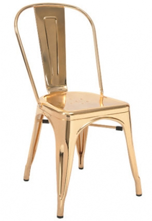 modern dining wire gold chair rose