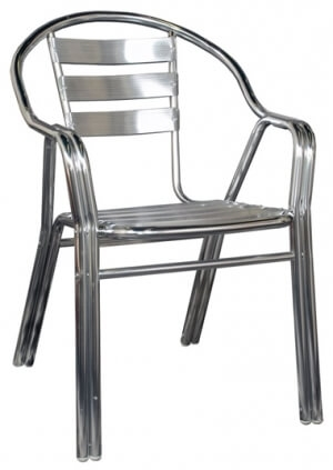 Double All Aluminum Outdoor Chair