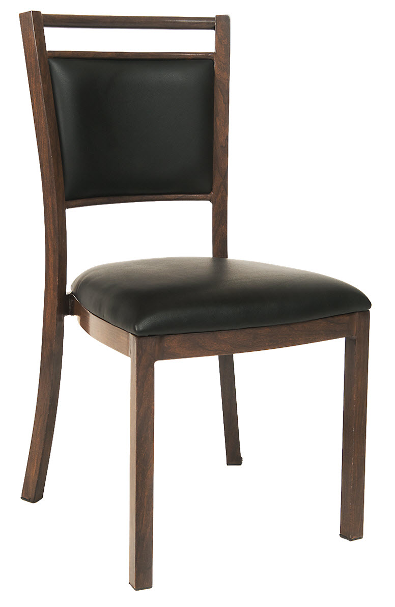 Wood Grain Aluminum Restaurant Chair