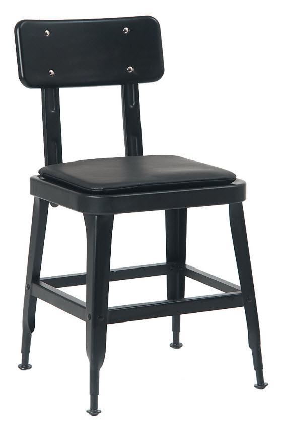 Fantastic Laurie Bistro Style Metal Chair In Black Finish Evergreenethics Interior Chair Design Evergreenethicsorg