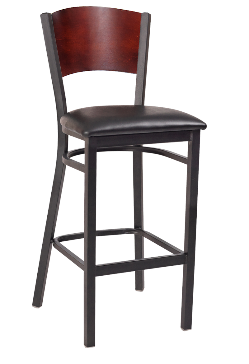 interchangeable back metal bar stool with solid back. Black Bedroom Furniture Sets. Home Design Ideas