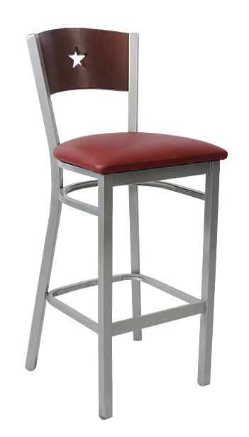 Grey Finish Interchangeable Back Metal Bar Stool with a  : 291 BS from www.seatingmasters.com size 351 x 615 jpeg 21kB