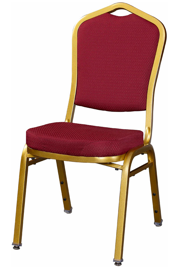 Premium Metal Stack Chair Sun Gold Frame With Red 2001