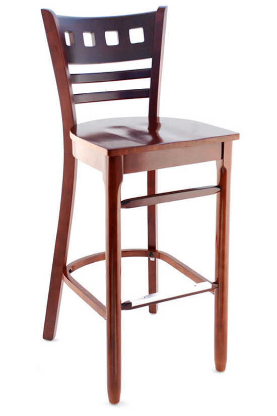 Premium Houston Series Wood Bar Stool Seating Masters