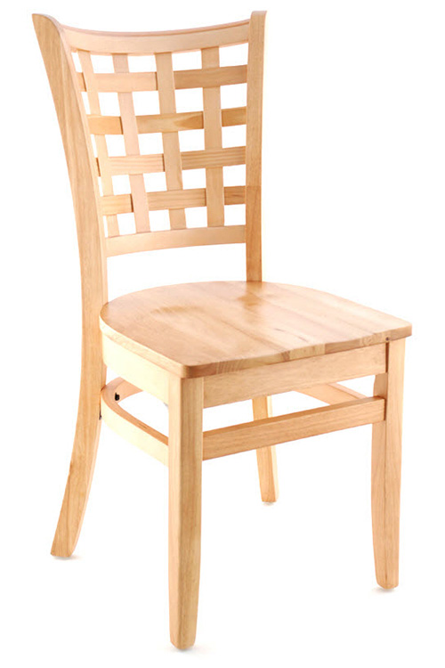Premium US Made Lattice Back Wood Chair
