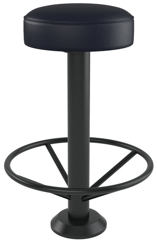 Backless Bolt Down Swivel Bar Stool