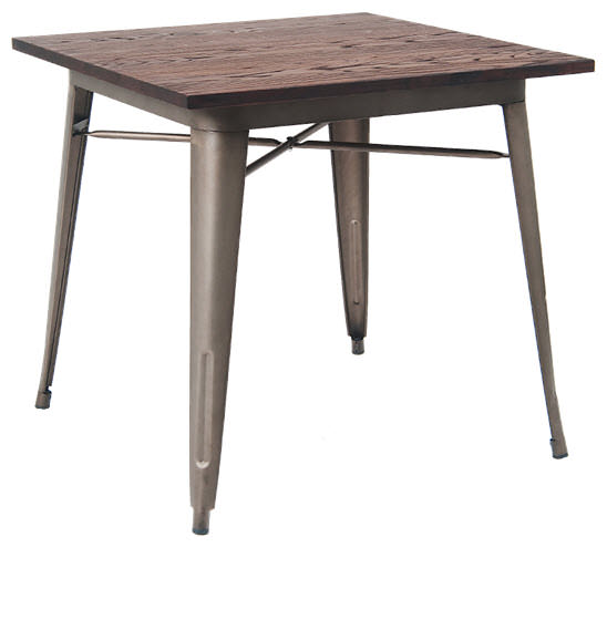 Industrial series table with metal legs and wood top for Serie a table 99 00