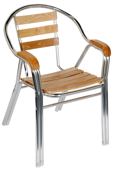 sc 1 st  Seating Masters & Aluminum u0026 Wood Double Tube Patio Chair