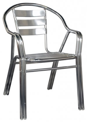 Double Tube Aluminum Outdoor Patio Chair