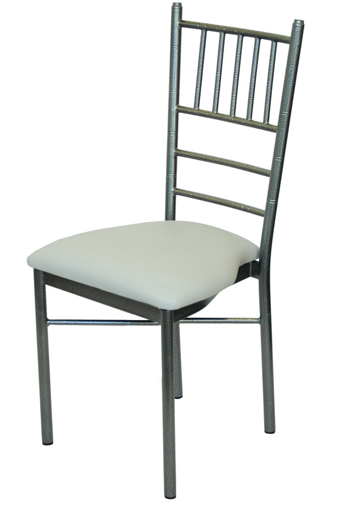 Silver Vein Metal Chiavari Ballroom Chair Seating