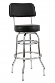 Swivel Bar Stool with a Double/Single Ring