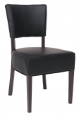Brown Metal Chair With Vinyl Padded Back and Seat
