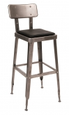 Laurie Bistro-Style Metal Bar Stool in Clear Finish
