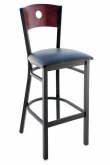 Interchangeable Back Metal Bar Stool with a Circled Back