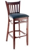 Premium US Made Vertical Slat Wood Bar Stool