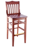 Premium US Made Schoolhouse Wood Bar Stool