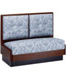 Wood Booth with Upholstered 2 Panel Back