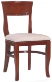 Mahogany Finish and Padded Fabric Seat