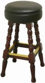 Classic Backless Wood Bar Stool