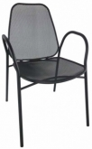 Mila Metal Patio Chair With Arms