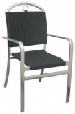Caesar Aluminum and Rattan Patio Chair