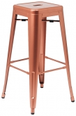 Bistro Style Metal Backless Bar Stool in Copper Finish