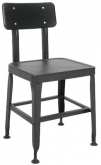 Metal Chair in Black Finish