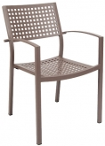 Aluminum Patio Arm Chair in Rust Color
