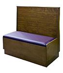 Wood Booth With Bead Board Back Platform Seat