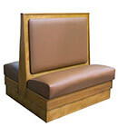 DH Style Wood Booth with Semi Padded Back