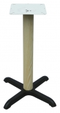 Premium Wood Grain X Prong Table Base - 30