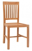 Vertical Slat Natural Teak Wood Chair