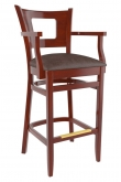 Premium US Made Chicago Series Wood Bar Stool With Arms