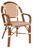 Aluminum Bamboo Cane Arm Chair
