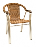 Aluminum and Wicker Patio Chair