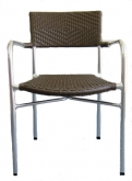 Aluminum and Double Woven Rattan Patio Chair