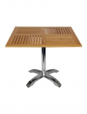 Teak Table Top With Aluminum Base