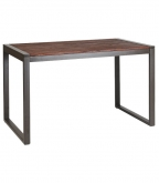 Industrial Series Table with Metal Frame and Walnut Wood Top