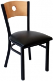 Interchangeable Back Metal Chair with a Circled Back