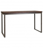 Industrial Series Bar Height Table with Metal Frame and Wood Top