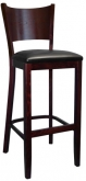 Beechwood Curved Plain Back Bar Stool