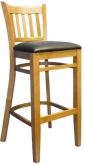 Beechwood Vertical Slat Side Bar Stool