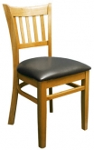 Beechwood Vertical Slat Side Chair