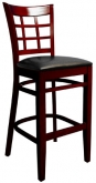 Beechwood Window Back Bar Stool