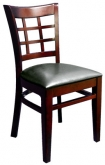 Beechwood Window Back Wood Chair