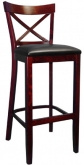 Beechwood X Back Bar Stool