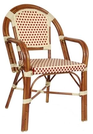 Aluminum Bamboo Cane Arm Chair